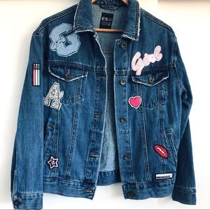 Jackets & Blazers - Denim Jacket With Patches All Over